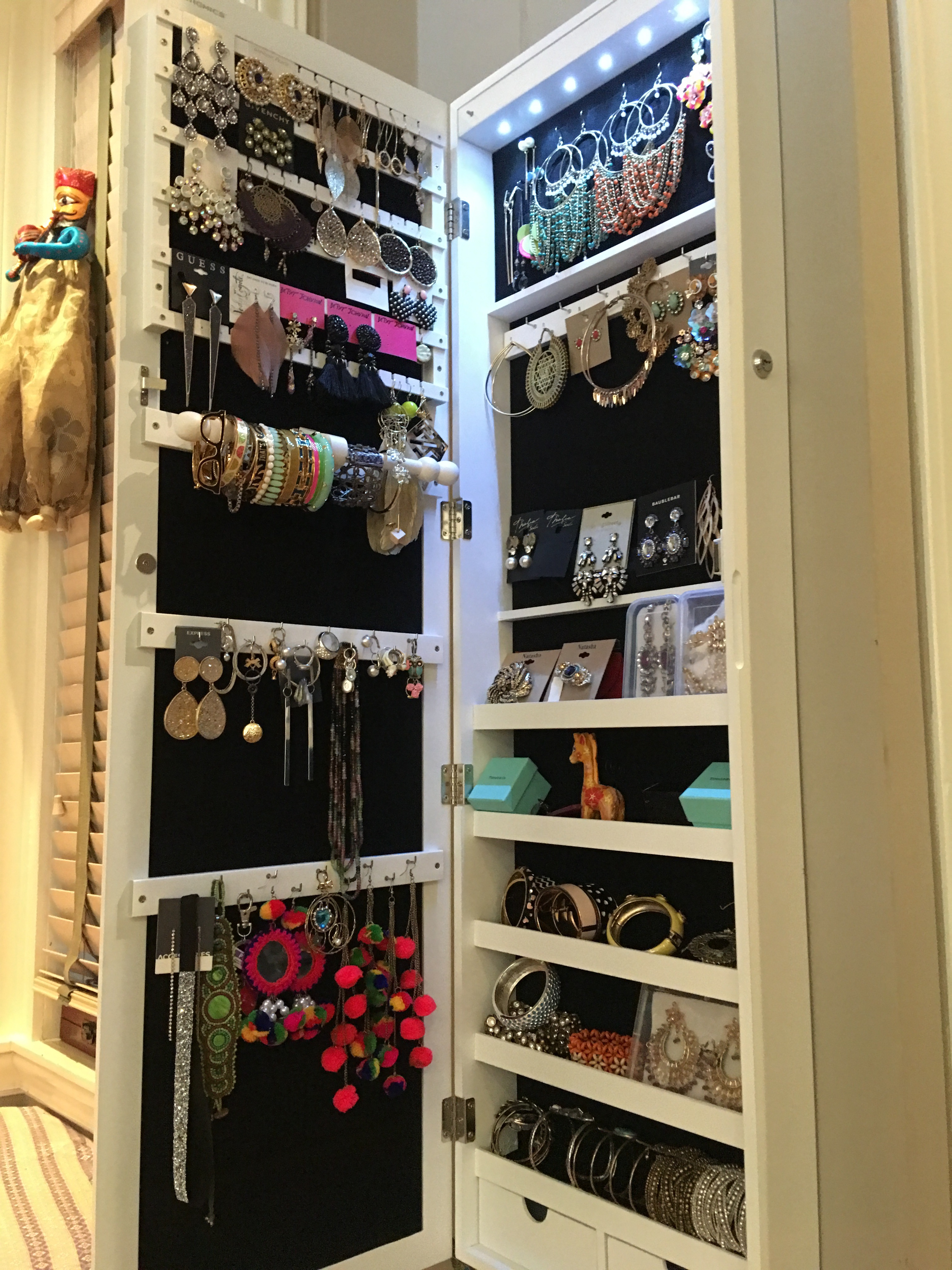 mounted inside like a m jewelry have several hook amount me p hooks img hung shoe necklaces another crazy i of people organizer rooism closet solution wall my for coat you with